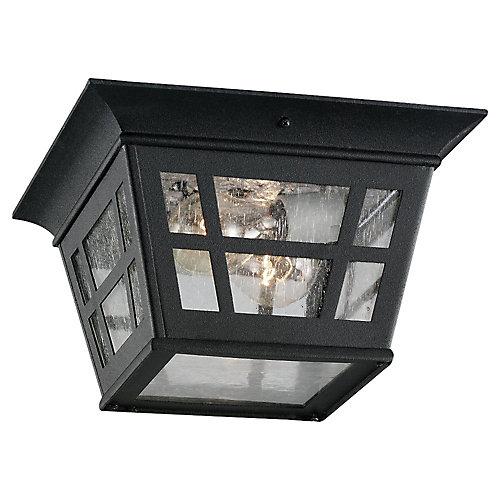2 Noir Light Incandescent encastré de plein air