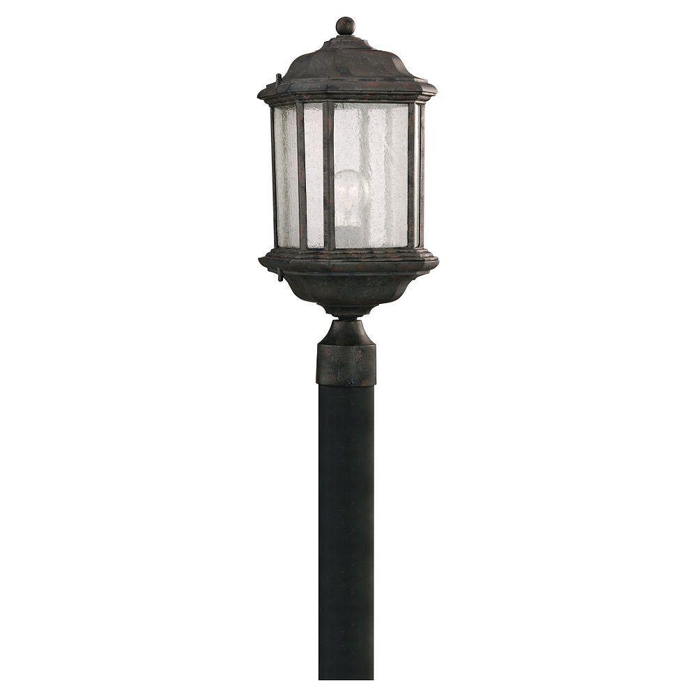 Sea Gull Lighting 1-Light Oxford Bronze Outdoor Post Lantern