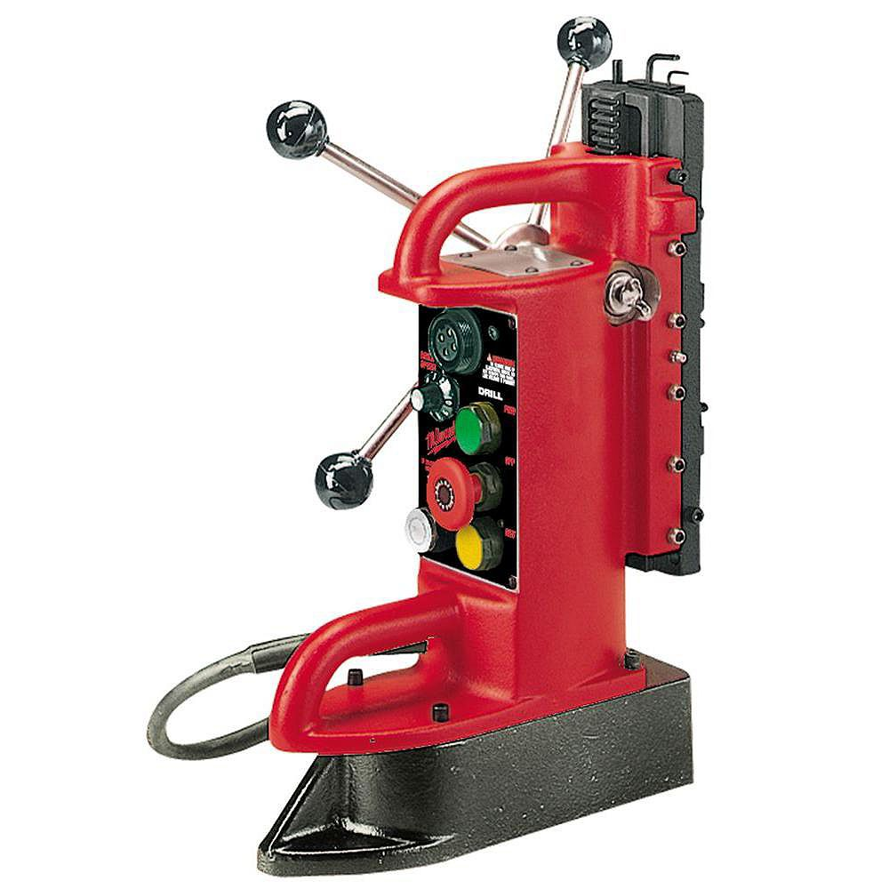 Milwaukee Tool Electro-Magnetic Fixed Position Drill Press Base with 9-inch Drill Travel