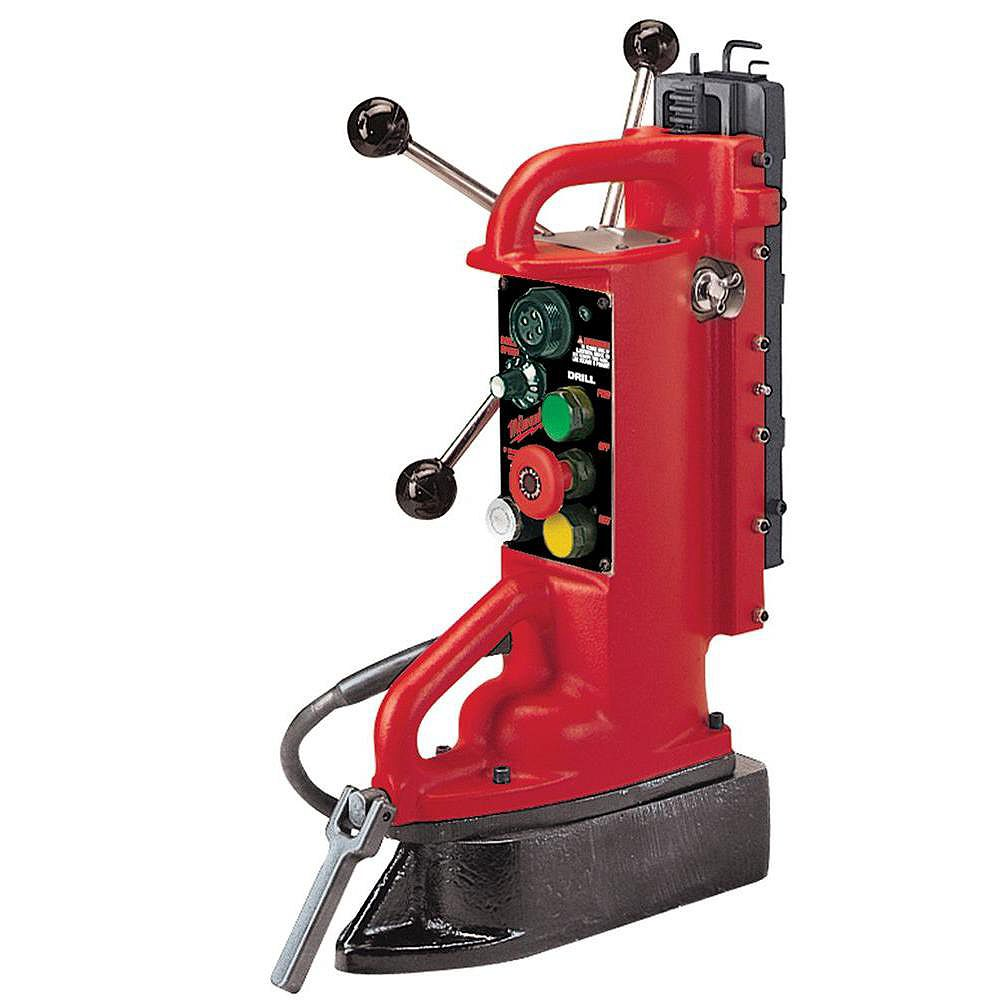 Milwaukee Tool Electro-Magnetic Adjustable Position Drill Press Base with 11-inch Drill Travel