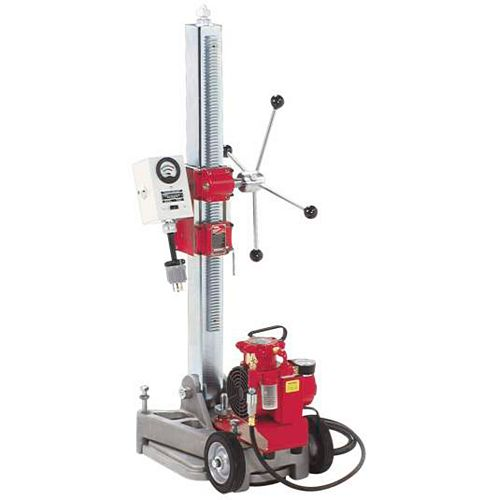 Diamond Coring Rig with Large Base Stand, Vac-U-Rig Kit and