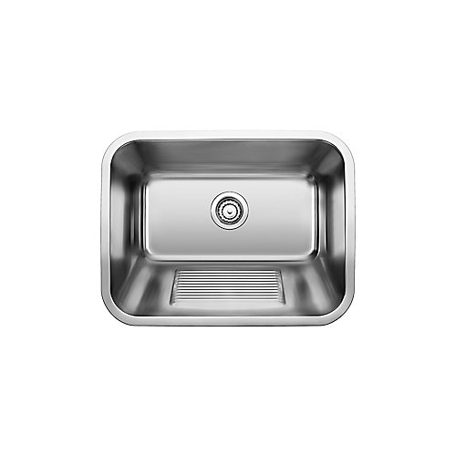 Stainless Steel Laundry Tub, 1-Bowl top mount