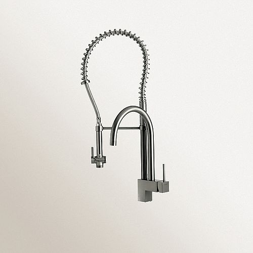 Blanco Single Lever, Professional Faucet With Two Swivel Spouts, Chrome