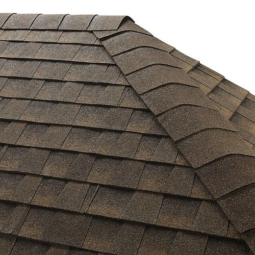 Seal-A-Ridge Barkwood Hip and Ridge Cap Roofing Shingles (25 lin. ft. per Bundle) (45-pieces)