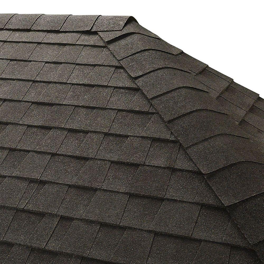 Gaf Seal A Ridge Charcoal Hip And Ridge Cap Roofing Shingles 25 Lin Ft Per Bundle 45 The Home Depot Canada