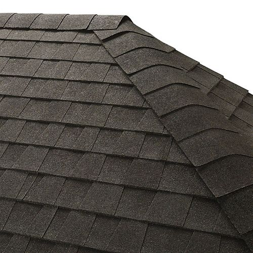 Seal-A-Ridge Charcoal Hip and Ridge Cap Roofing Shingles (25 lin. ft. per Bundle) (45-pieces)