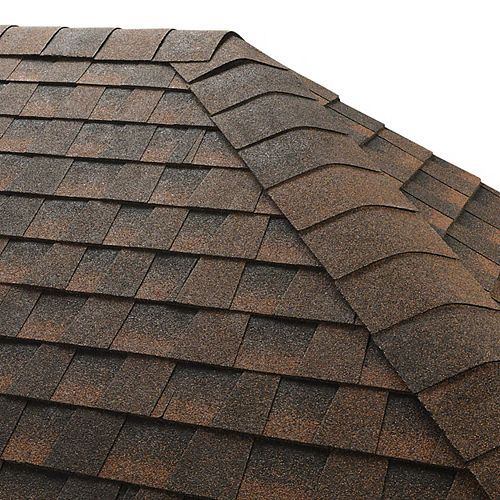 Seal-A-Ridge Hickory Hip and Ridge Cap Roofing Shingles (25 lin. ft. per Bundle) (45-pieces)
