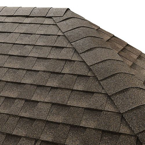 GAF Seal-A-Ridge Mission Brown Hip and Ridge Cap Roofing Shingles (25 lin. ft. per Bundle) (45-pieces)