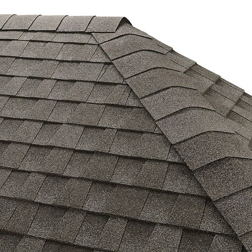 Seal-A-Ridge Pewter Gray Hip and Ridge Cap Roofing Shingles (25 lin. ft. per Bundle) (45-pieces)