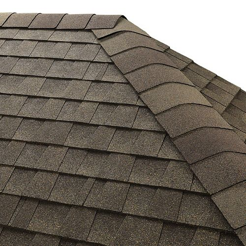 Seal-A-Ridge Weathered Wood Hip and Ridge Cap Roofing Shingles (25 lin. ft. per Bundle) (45-pieces)