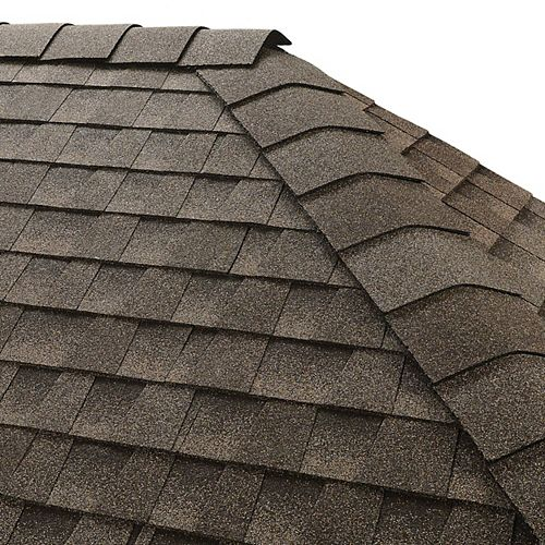 GAF TimberTex Mission Brown Double-Layer Hip and Ridge Cap Shingles (20 lin. ft. per Bundle) (30-pieces)