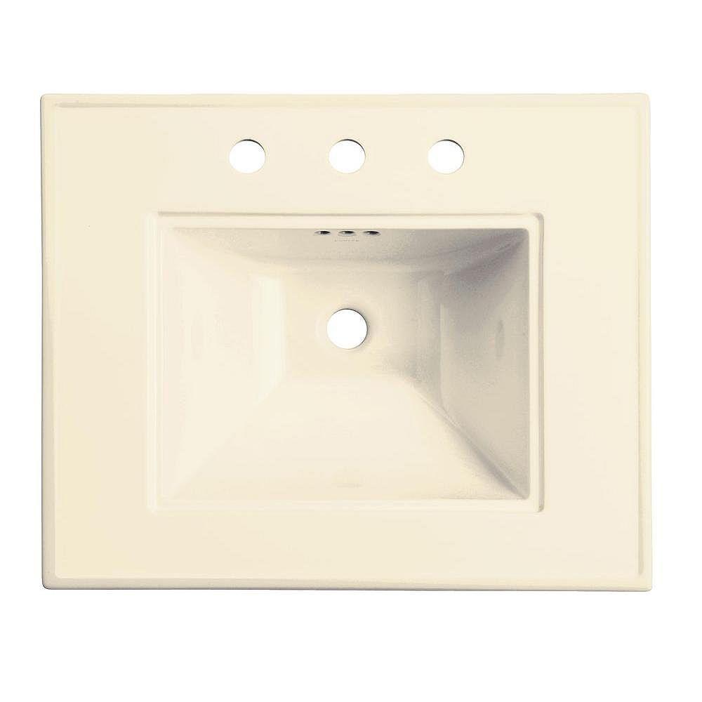 KOHLER Memoirs Bathroom Sink Basin with 4-inch Faucet Holes in Biscuit