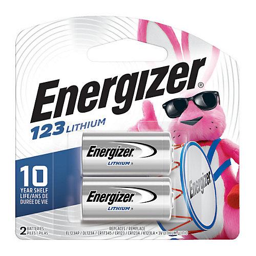 Energizer 123 Batteries, 2 Pack