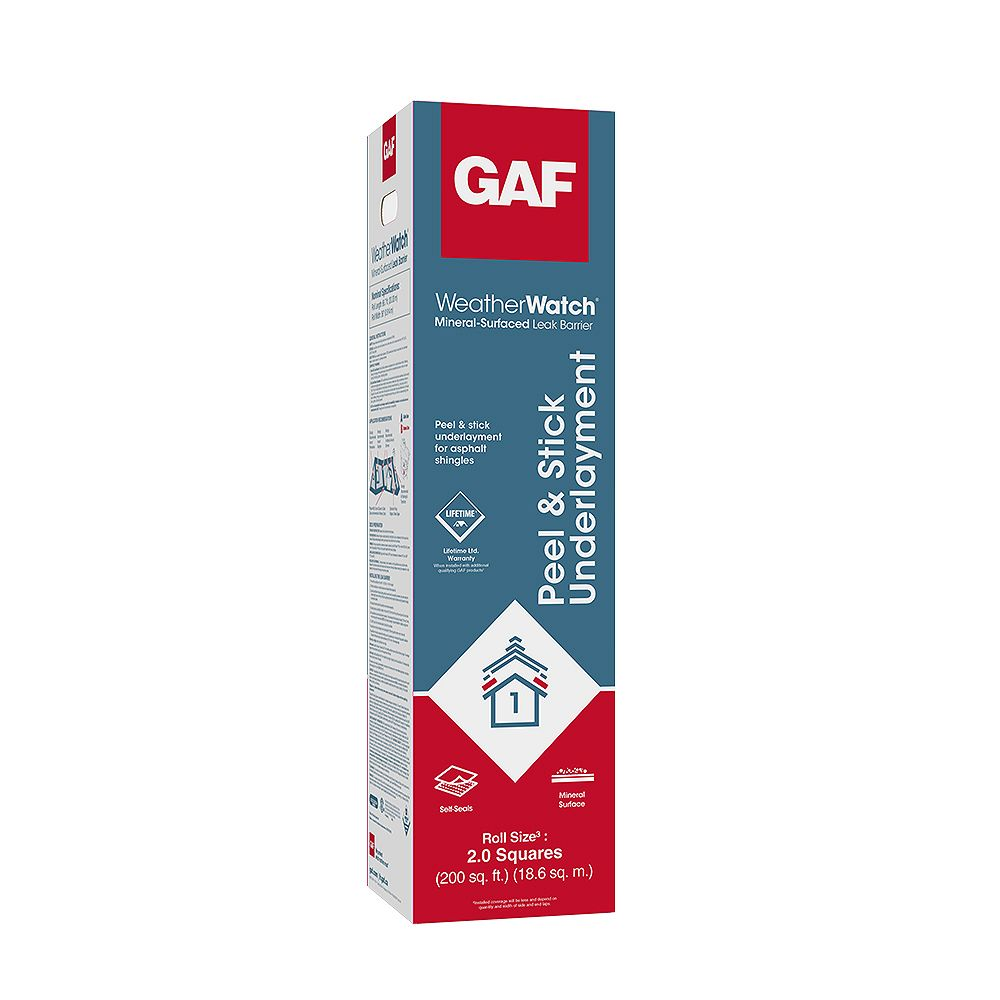 GAF WeatherWatch 200 sq. ft. Mineral-Surfaced Peel and Stick Roof Leak Barrier Roll