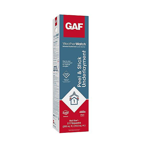 WeatherWatch 200 sq. ft. Mineral-Surfaced Peel and Stick Roof Leak Barrier Roll