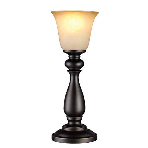 Lampe de buffet à éclairage vers le haut avec diffuseur, 16po, fini bronze huilé et verre