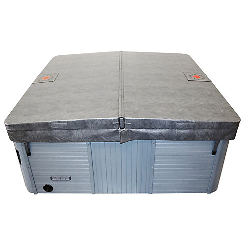 92 x 92-inch Square Hot Tub Cover with 5-inch/3-inch Taper in Grey