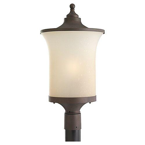 1 châtain clair Bronze Incandescent extérieur Post Lantern