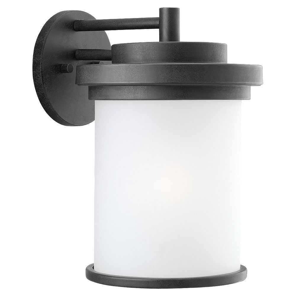 Sea Gull Lighting Lumière Seagull fixée au mur à une ampoule avec abat-jour de spécialité, finition de spécialité