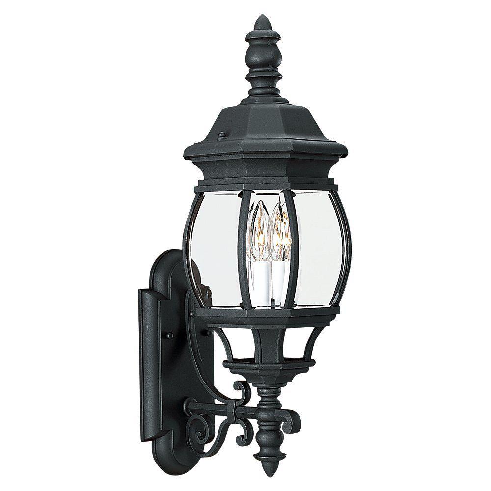 Sea Gull Lighting 2 Light Black Incandescent Outdoor Wall Lantern