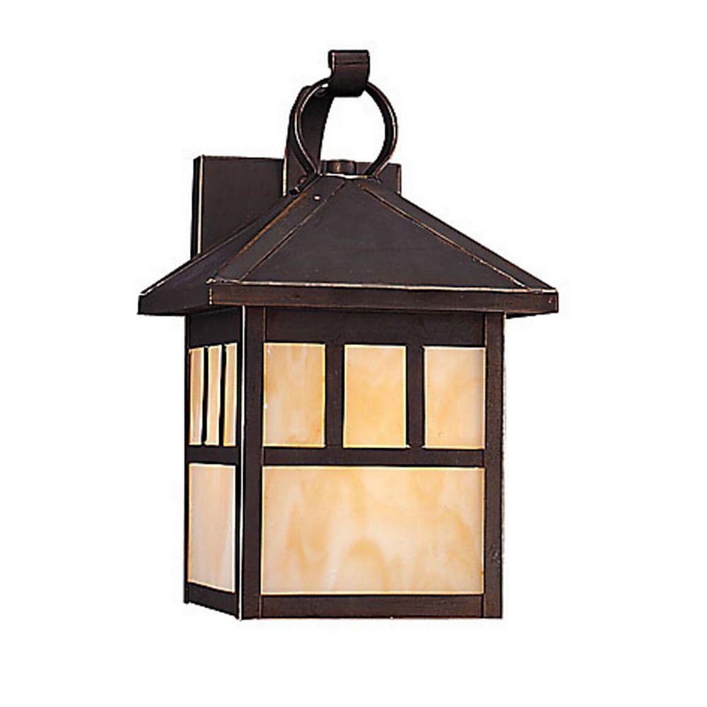 Sea Gull Lighting 1 Light Antique Bronze Fluorescent Outdoor Wall Lantern