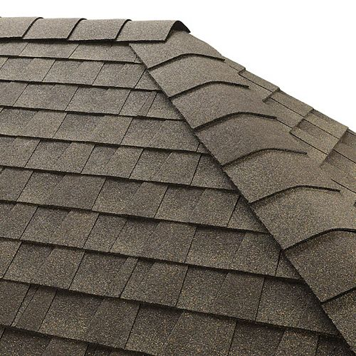 TimberTex Weathered Wood Double-Layer Hip and Ridge Cap Shingles (20 lin. ft. per Bdl) (30-pieces)