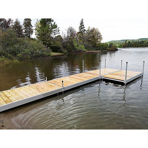 Multinautic 4 ft. x 8 ft. Aluminum Boxed Dock Frame Kit