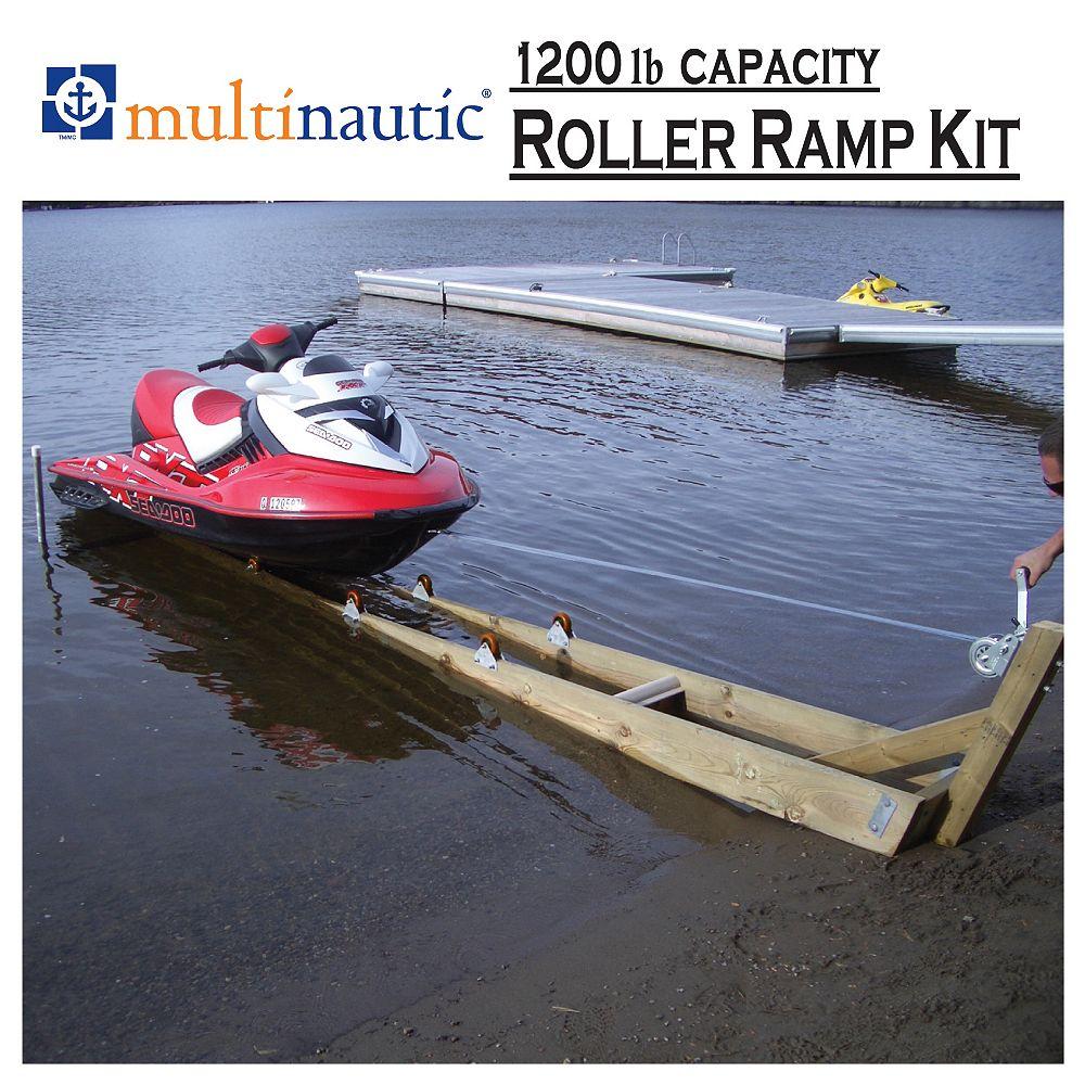Multinautic Kit de Rampe complet pour embarcations 1200 lb roues oranges