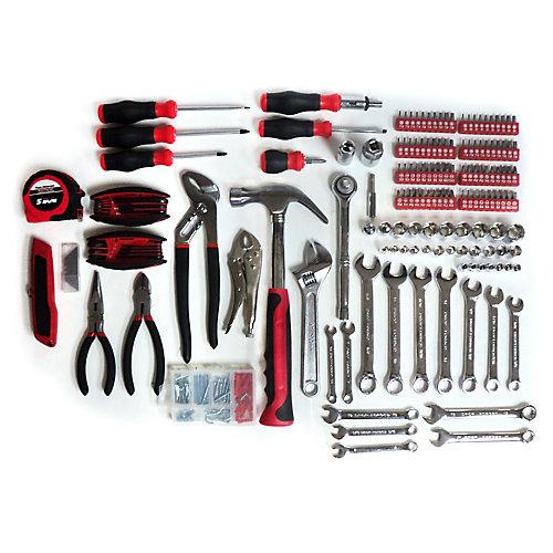Ensemble de 155 outils manuels