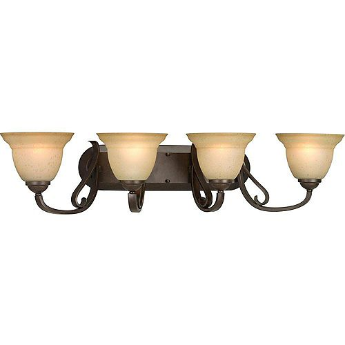 Progress Lighting Torino Collection Forged Bronze 4-light Wall Bracket