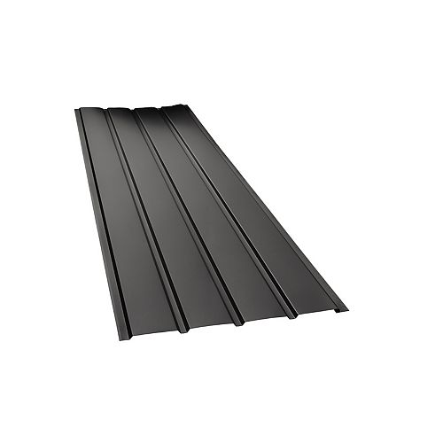 Soffite robuste Rainwear, 16 po x 12 pi, aluminium, noir