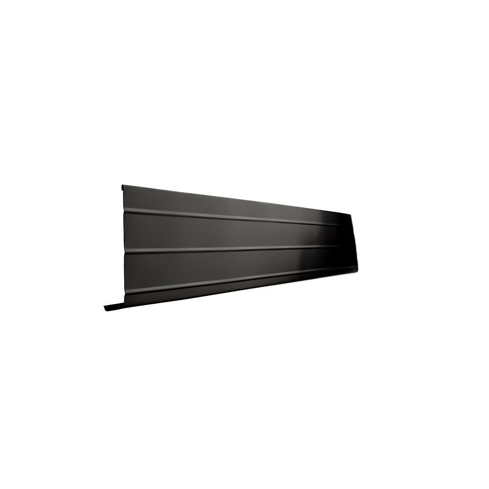 Peak Products 10 ft. L x 6-inch W x 1-inch H Aluminum Fascia Cover in Black