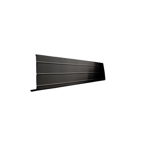 Peak Products Bordure de fascia en aluminium, 10 pi x 6 po x 1 po - noir