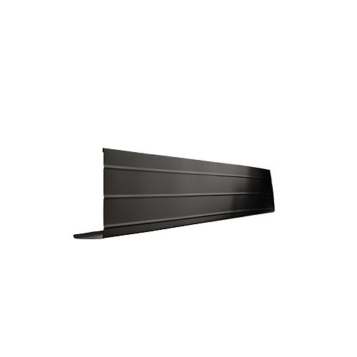 Bordure de fascia en aluminium, 10 pi x 6 po x 2 po - noir