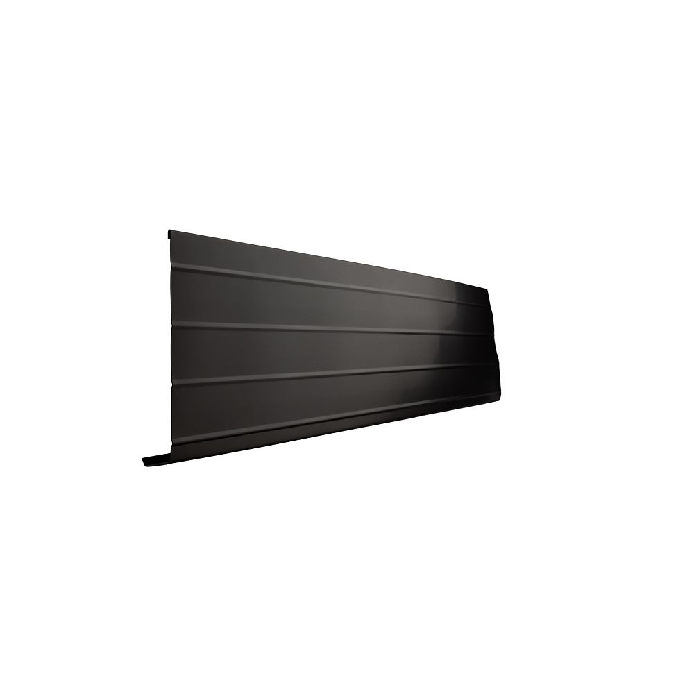 Peak Products 10 ft. L x 8-inch W x 1-inch H Aluminum Fascia Cover in Black