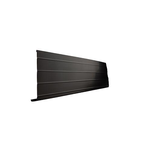 Bordure de fascia en aluminium, 10 pi x 8 po x 1 po - noir