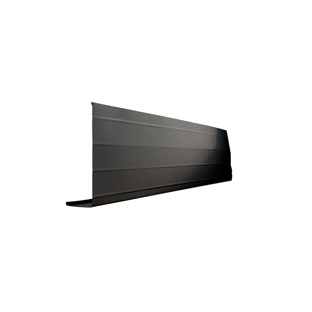 Peak Products 10 ft. L x 8-inch W x 2-inch H Aluminum Fascia Cover in Black