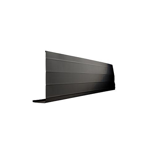 Bordure de fascia en aluminium, 10 pi x 8 po x 2 po - noir