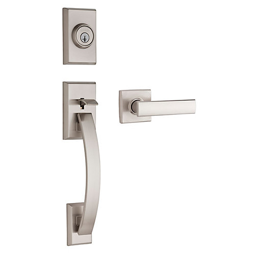 Tavaris / Vedani Passage Handleset in Satin Nickel