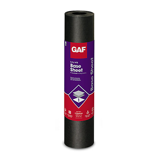 Tri-Ply 3 ft. x 98 ft. (300 sq. ft.) #75 Base Sheet Membrane Roll For Low Slope Roofs