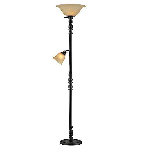 Lampadaire avec lampe de lecture réglable