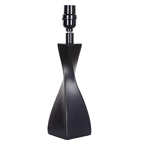 Socle de lampe d'appoint Noir Mix & Match 14 po