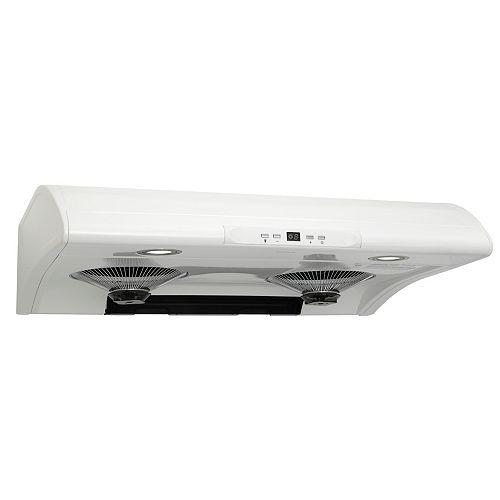 30-in 500 CFM Under cabinet range hood in white