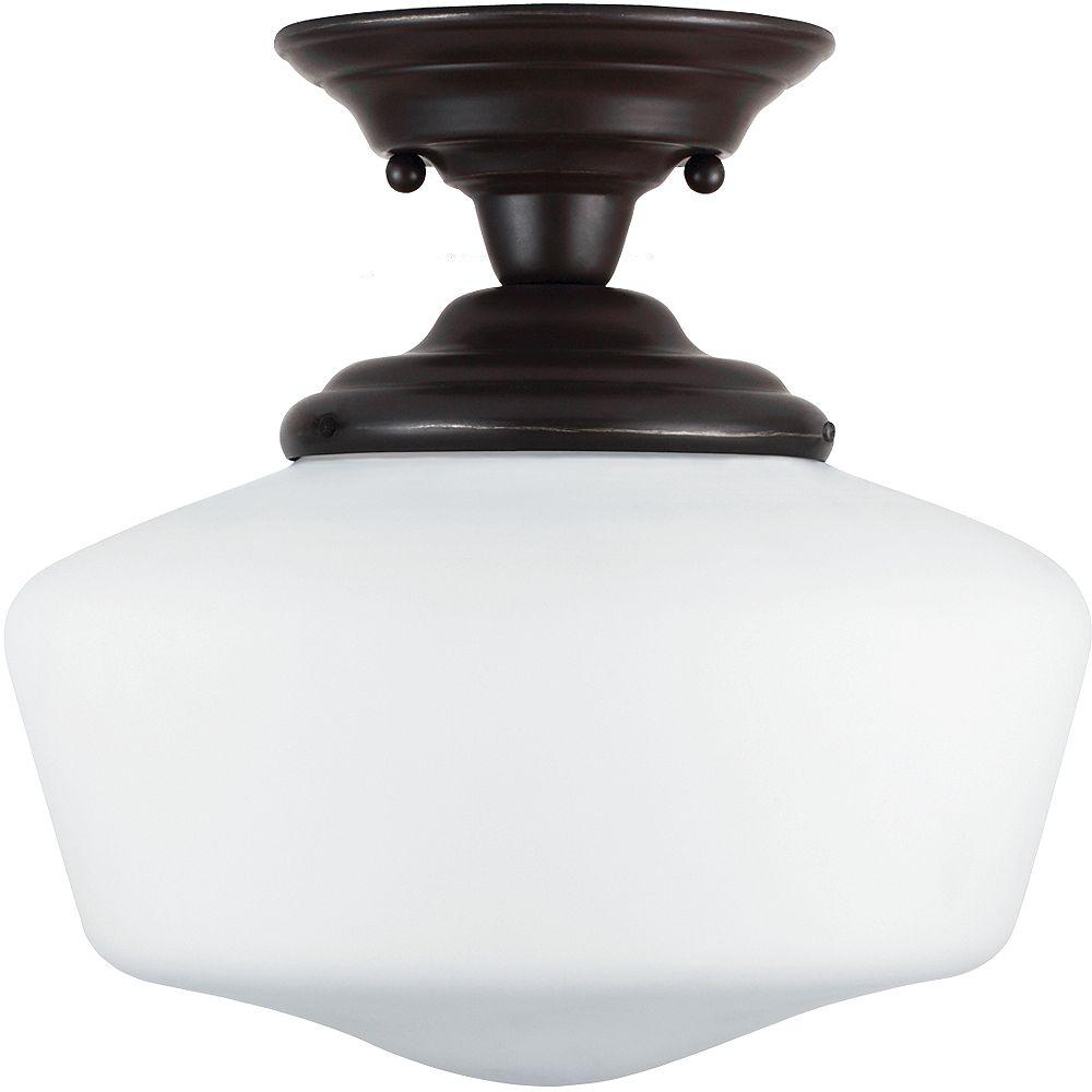 Sea Gull Lighting 1-Light Heirloom Bronze Semi-Flush Light Fixture
