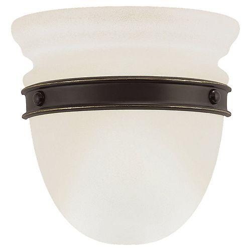 1 Lumière Bronze Antique / saupoudré d'Ivoire Applique halogène
