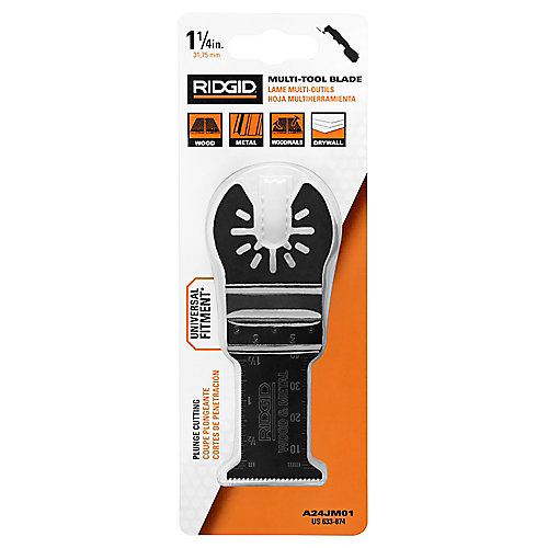 JobMax 1-1/8-inch Multi-Purpose Steel Plunge Cut Blade