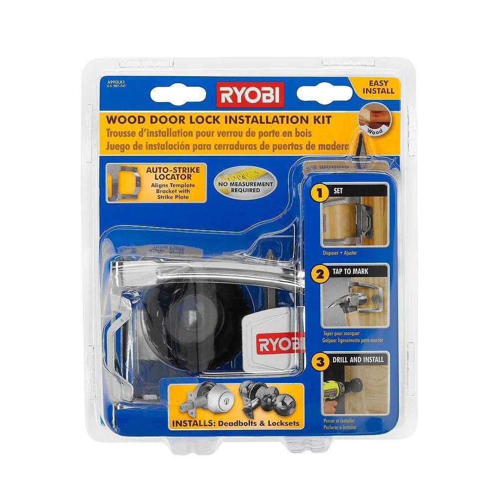 RYOBI Wood Door Lock Installation Kit