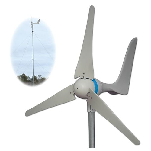 600W Wind Turbine w/ Tower Kit
