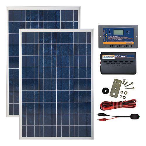 200 Watt, 12 Volt Solar Backup Kit