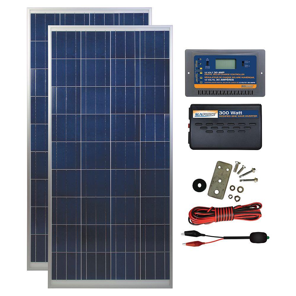 Coleman 300 Watt, 12 Volt Solar Backup Kit